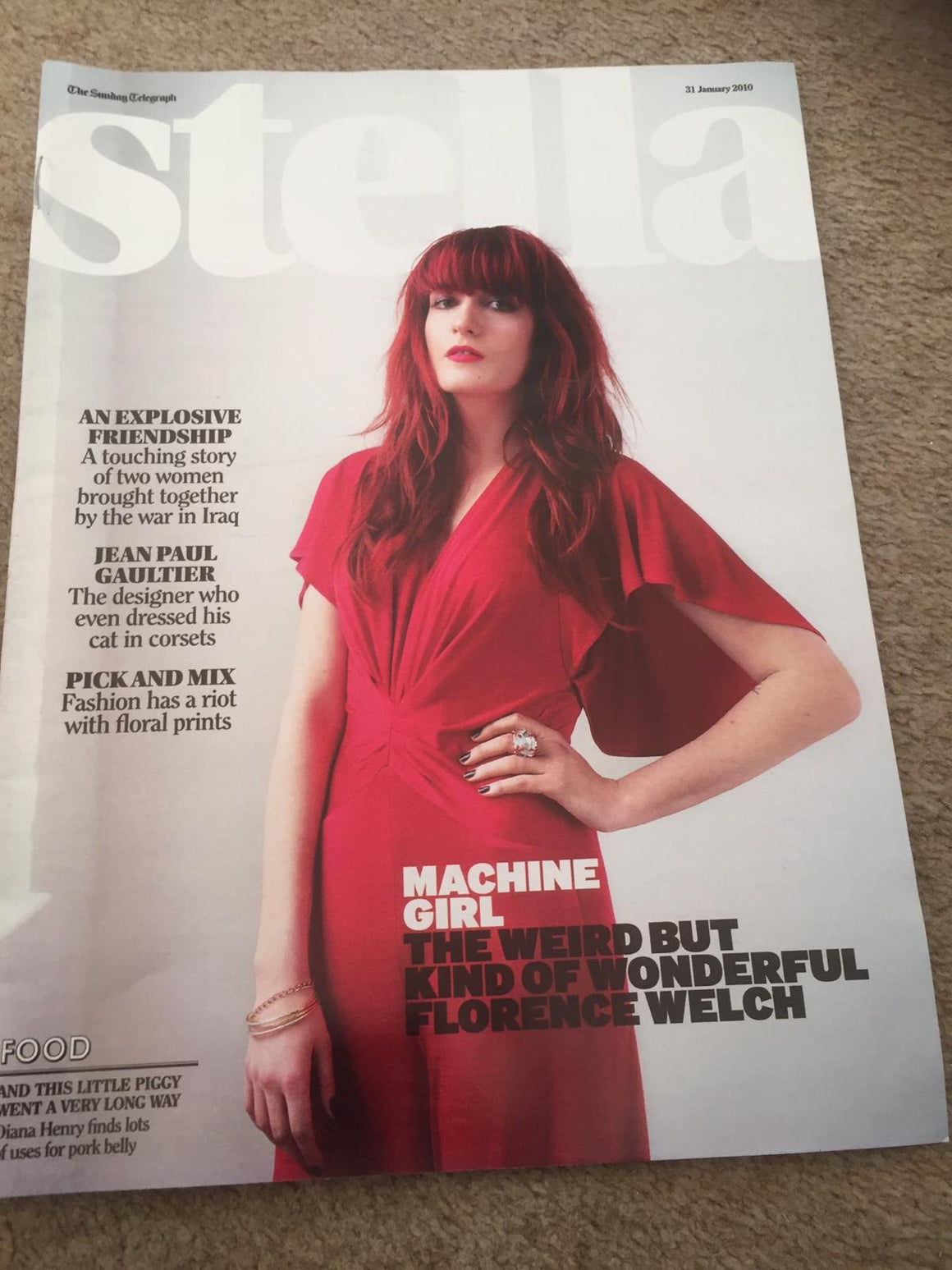UK Stella Magazine 2010: Florence Welch + The Machine Cover