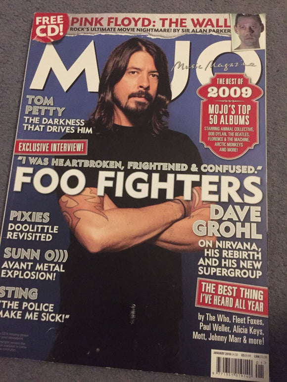 MOJO MAGAZINE - DAVE GROHL FOO FIGHTERS COVER (JANUARY 2010 - ISSUE 194)