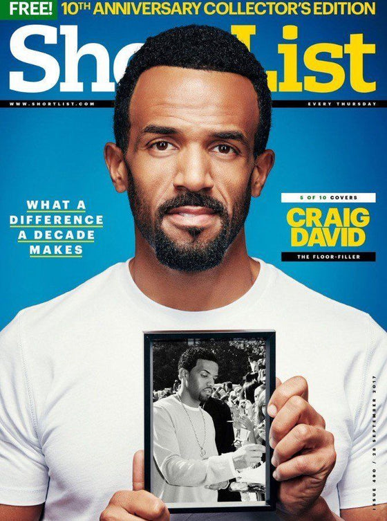 UK Shortlist Magazine 10th Anniversary Issue - Craig David Cover 1 of 10 Covers