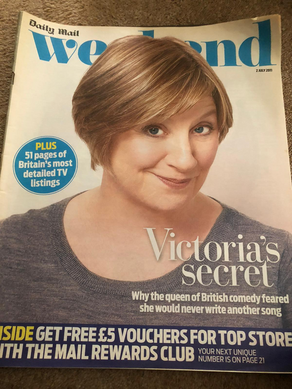 Mail Weekend Magazine 2 July 2011 Victoria Wood Cover