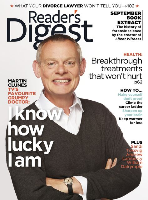 UK Reader's Digest Magazine September 2013: MARTIN CLUNES COVER