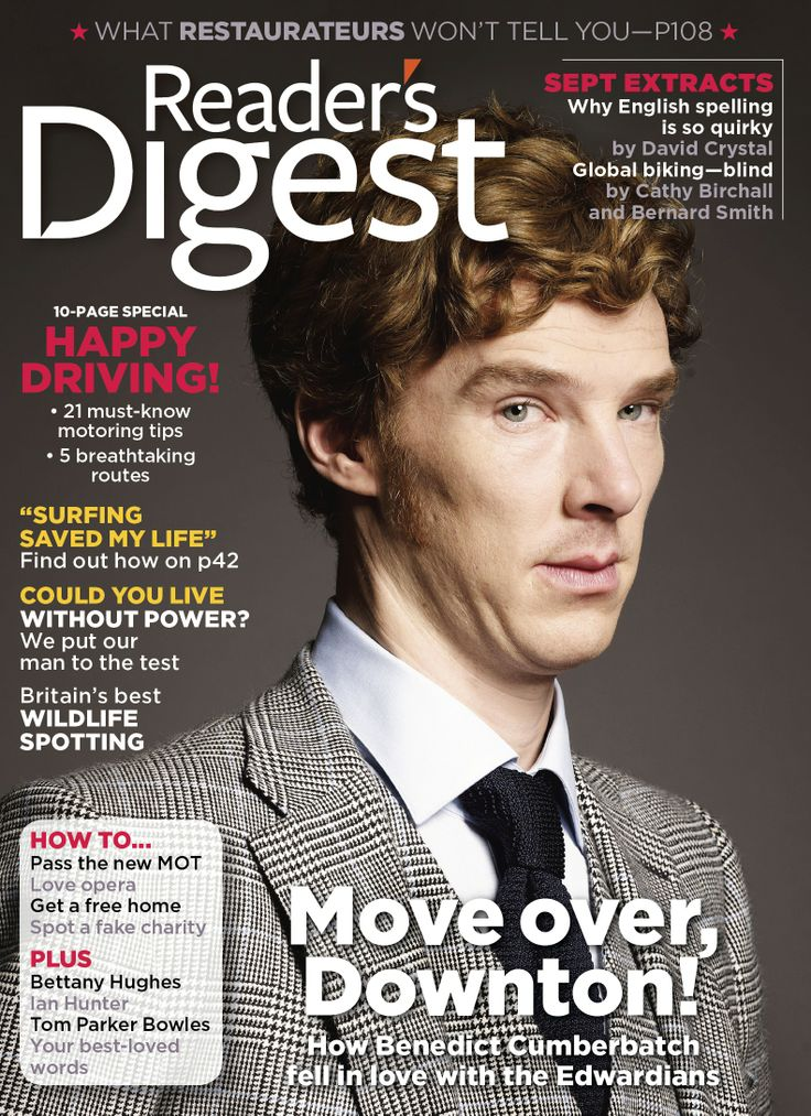 UK READER'S DIGEST MAGAZINE AUGUST 2012: BENEDICT CUMBERBATCH