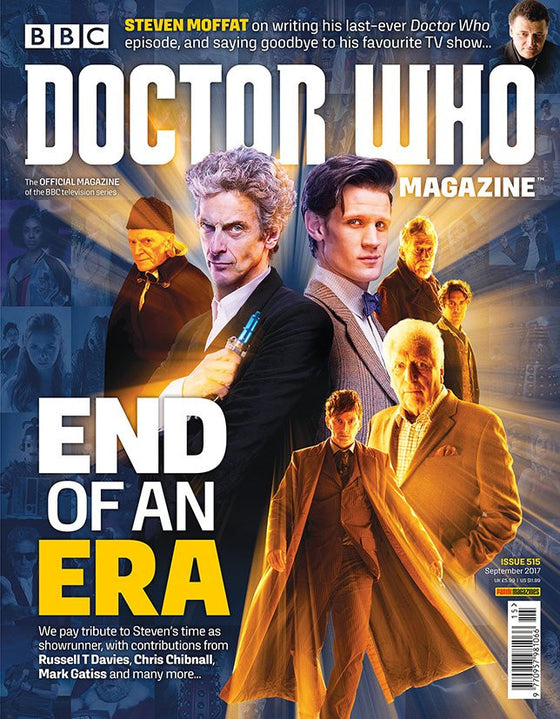 DOCTOR WHO MAGAZINE SEPTEMBER 2017 #515 PETER CAPALDI DAVID TENNANT JOHN HURT