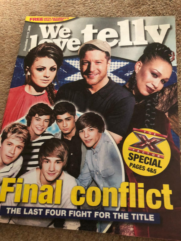We Love Telly Magazine December 2010 One Direction Cher Lloyd