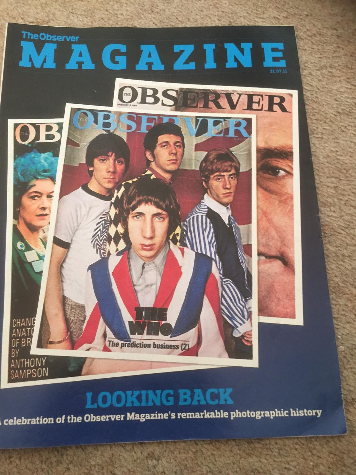Observer Magazine July 2011: The Who Roger Daltrey Don Mccullin