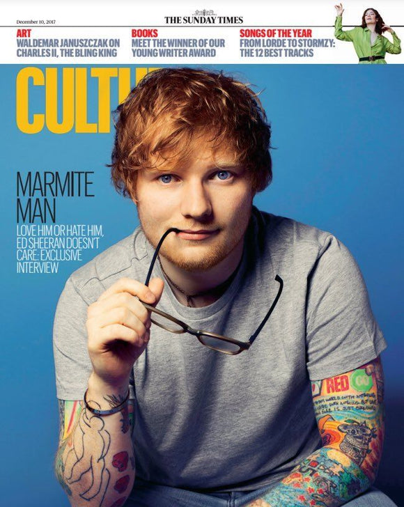 UK Culture Magazine 10th December 2017 Ed Sheeran Sam Troughton Sarah Greene
