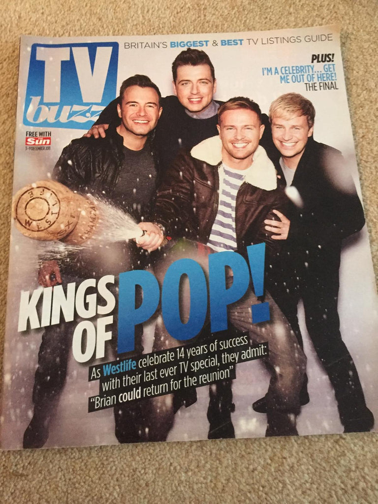 UK TV BUZZ MAGAZINE - WESTLIFE COVER (3 DECEMBER 2011)