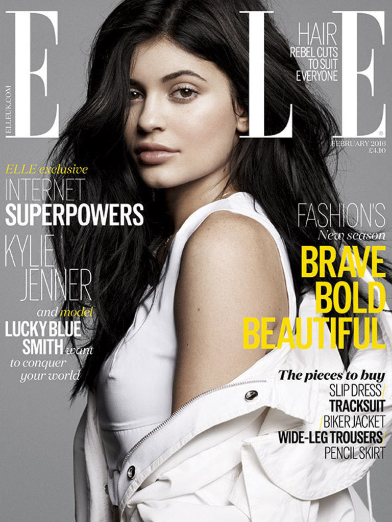 Elle Magazine February 2016 Kylie Jenner cover