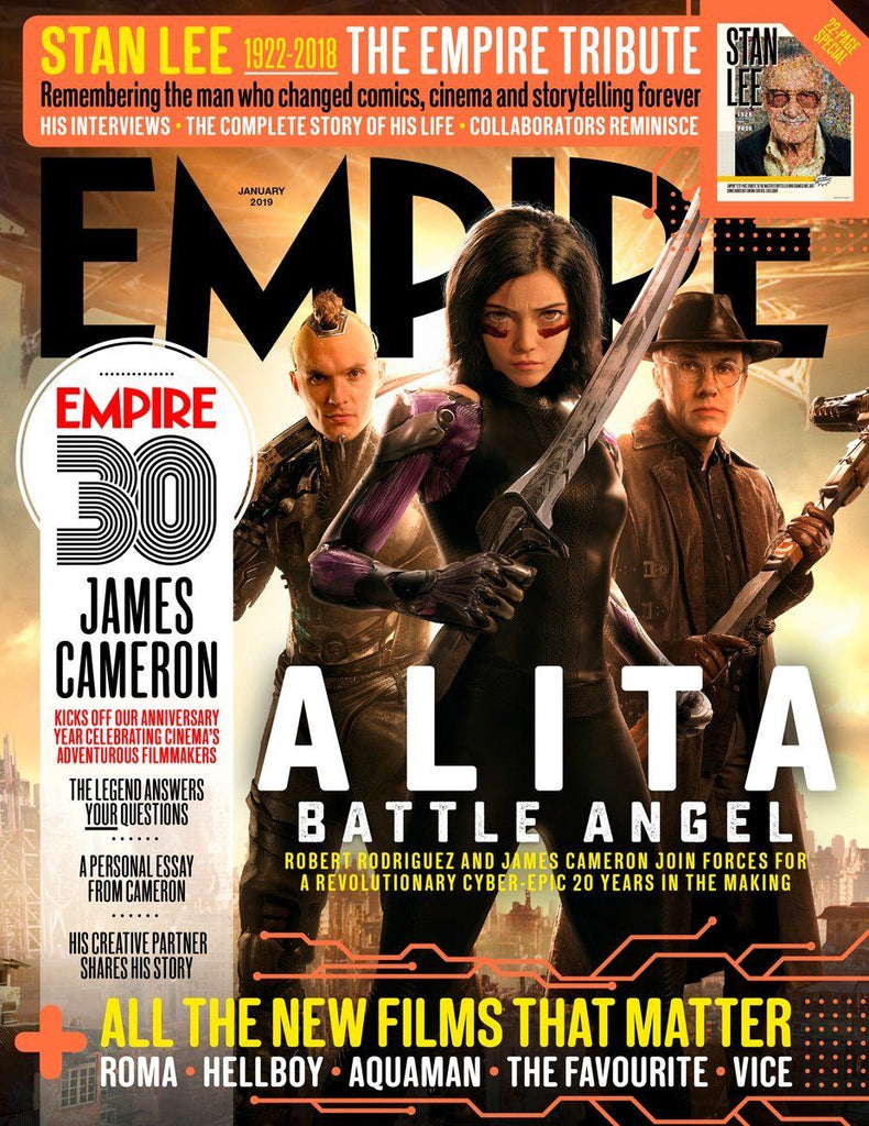 Empire Magazine January 2019: ALITA BATTLE ANGEL Stan Lee CHRISTOPH WALTZ