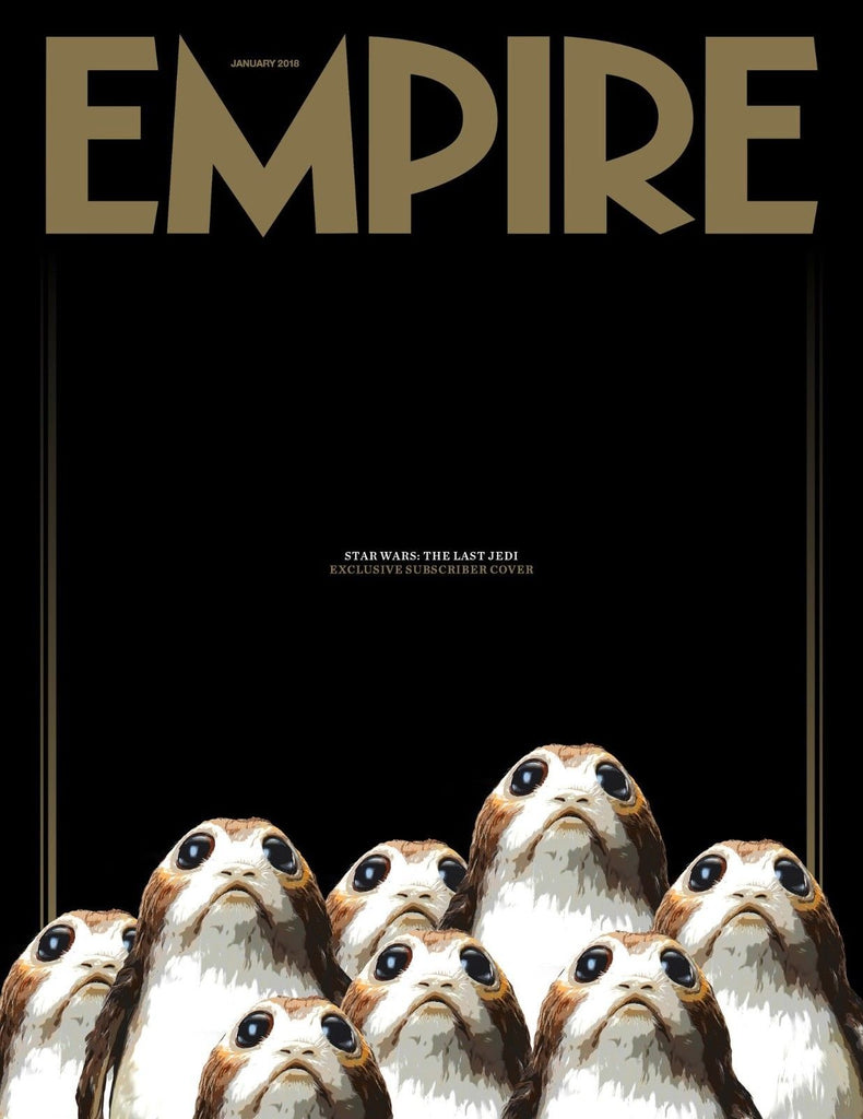 Empire Magazine January 2018 Star Wars The Last Jedi The Porgs Subscribers Cover