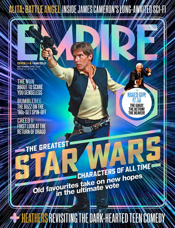 Empire Magazine September 2018: GREATEST STAR WARS CHARACTERS COVER #1 Han Solo