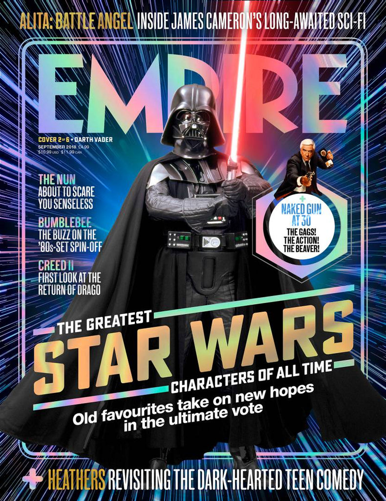 Empire Magazine Sept 2018: GREATEST STAR WARS CHARACTERS COVER #2 Darth Vader