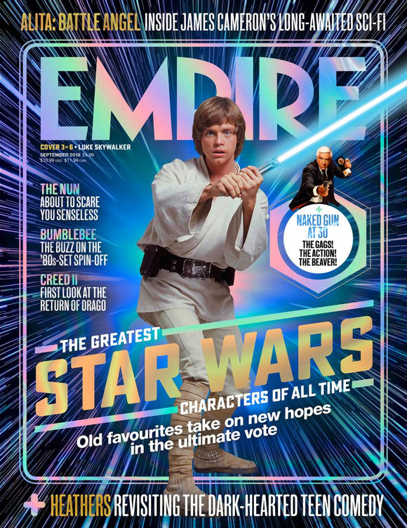 Empire Magazine Sept 2018: GREATEST STAR WARS CHARACTERS COVER #3 Luke Skywalker Timothee Chalamet