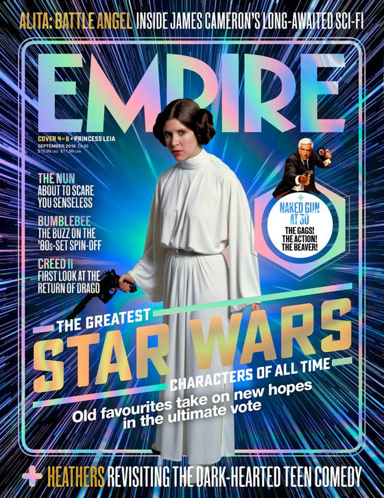 Empire Magazine Sept 2018: GREATEST STAR WARS CHARACTERS #4 Princess Leia (Carrie Fisher)
