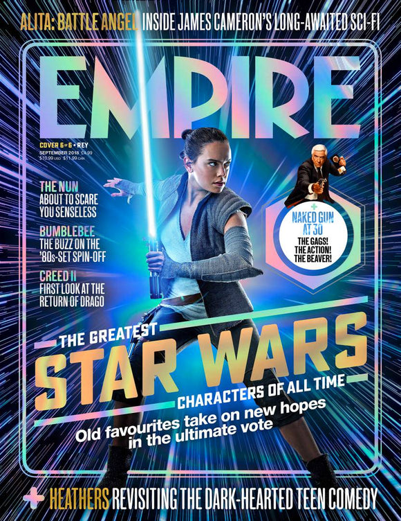 Empire Magazine September 2018: GREATEST STAR WARS CHARACTERS COVER #6 Rey (Daisy Ridley)