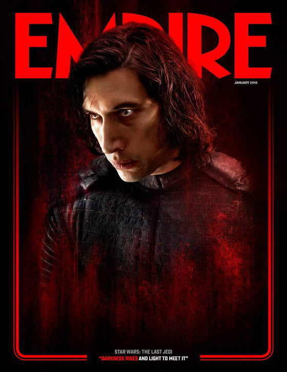 Empire Magazine January 2018 Star Wars: The Last Jedi - Adam Driver as Kylo Ren