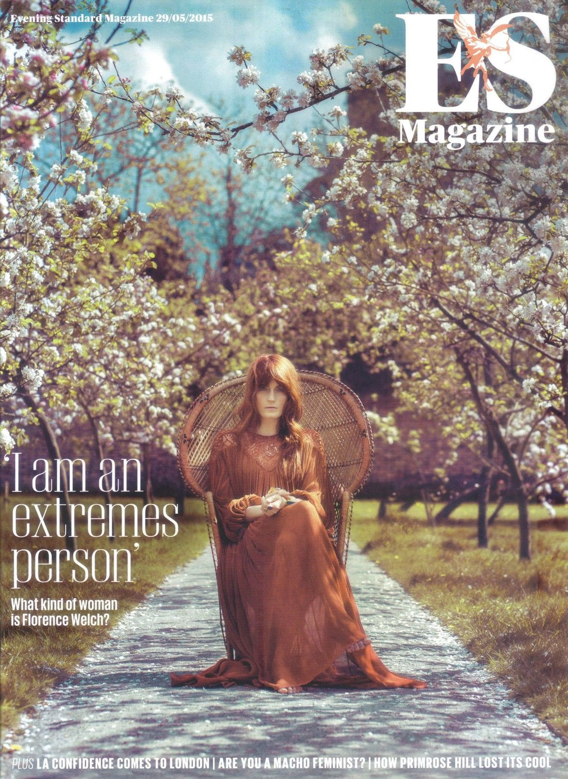 UK LONDON ES MAGAZINE - FLORENCE WELCH + THE MACHINE - MAY 29 2015