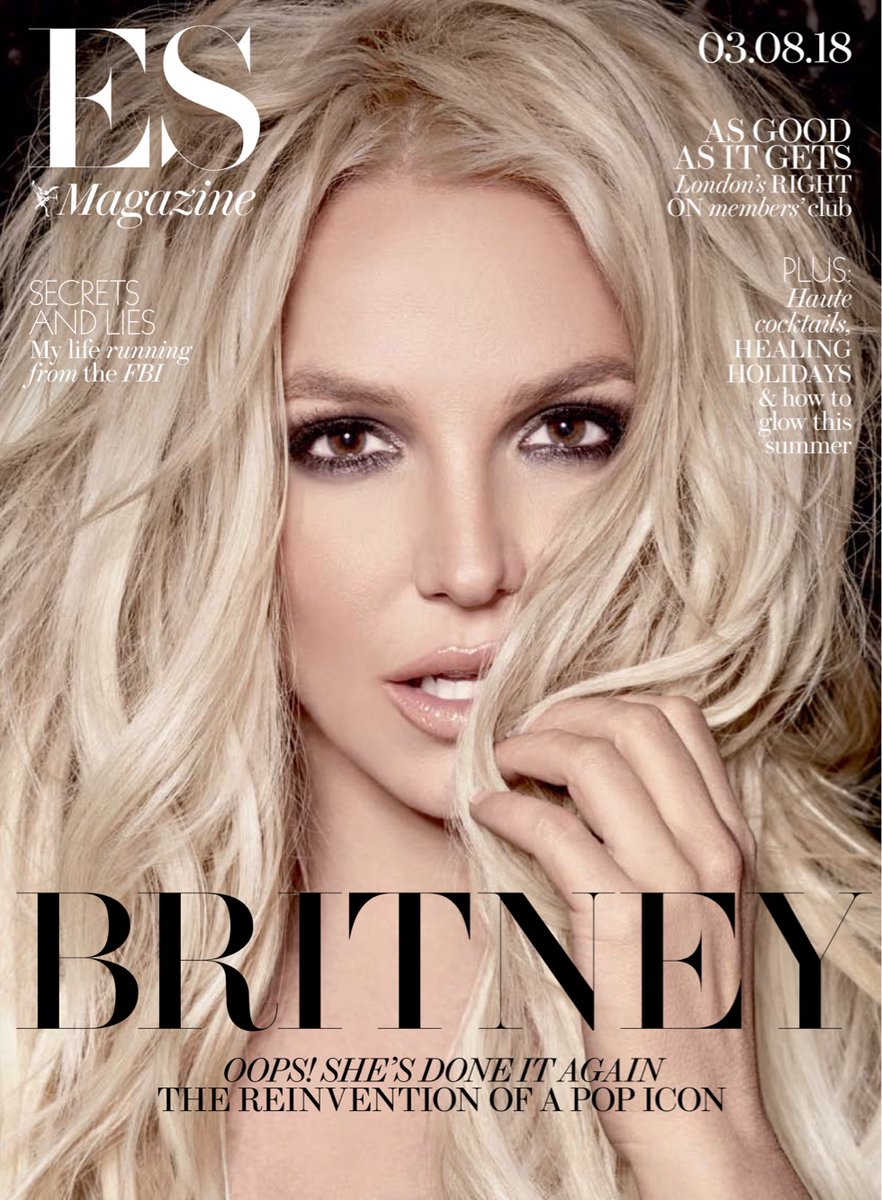 Piece Of Me Britney Spears Photo Cover Interview Uk Es Magazine August Yourcelebritymagazines