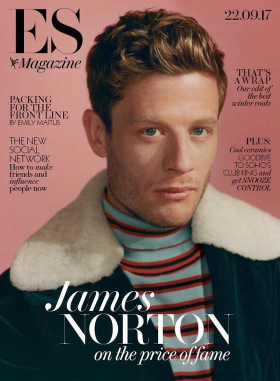 James Norton on the cover of London ES Magazine
