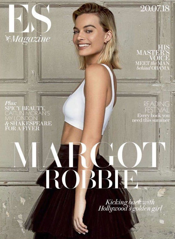 UK ES Magazine July 2018: MARGOT ROBBIE Suicide Squad 2 COVER PHOTO INTERVIEW