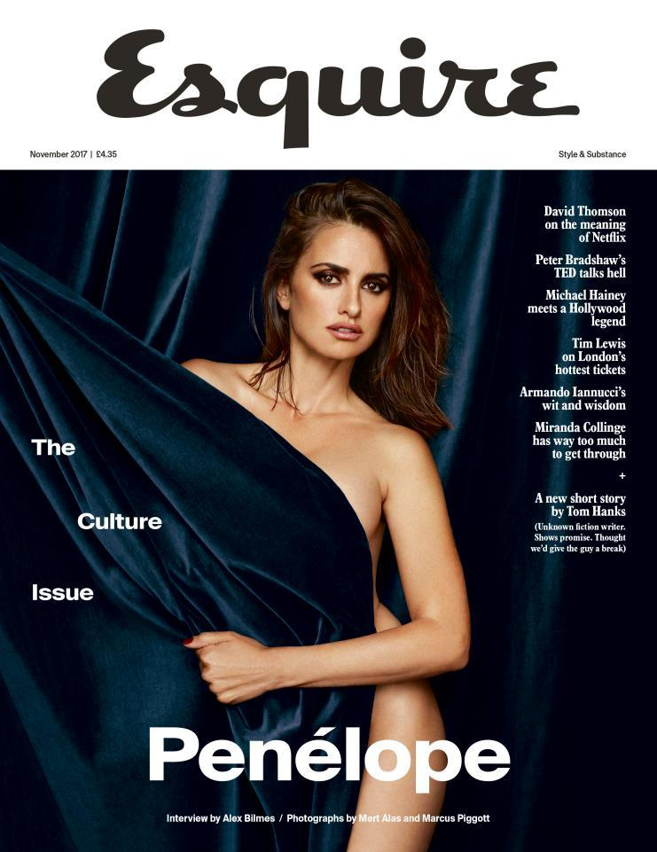 UK Esquire Magazine November 2017 Penelope Cruz Regular UK Cover Interview