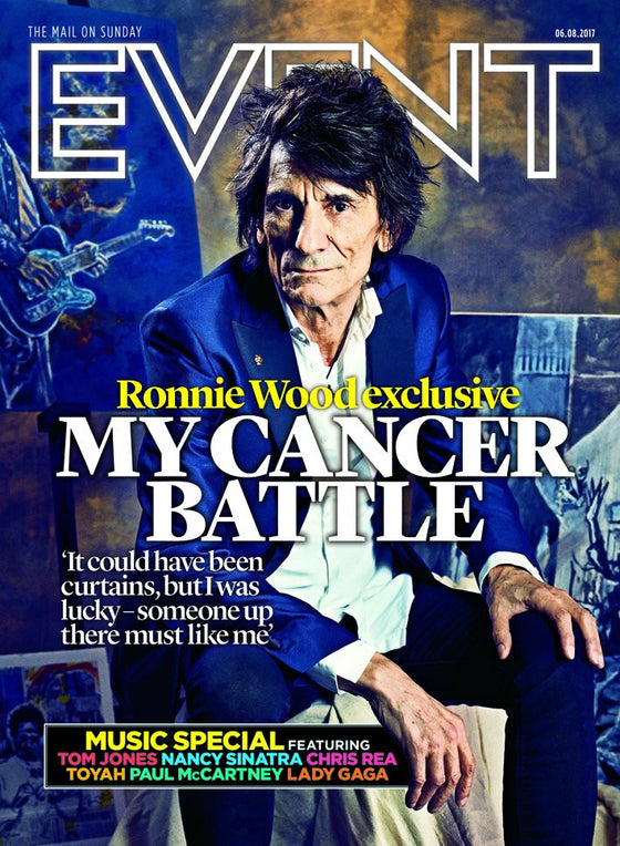 UK Event magazine 6th August 2017 Ronnie Wood The Rolling Stones Paul McCartney Chris Rea