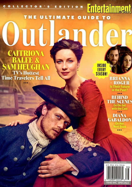 ENTERTAINMENT WEEKLY MAGAZINE THE ULTIMATE GUIDE TO OUTLANDER SAM HEUGHAN