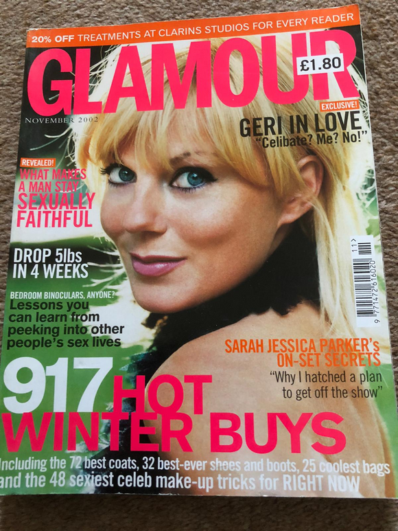 UK Glamour November 2002 Geri Halliwell The Spice Girls