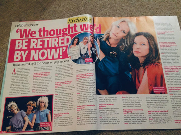 Woman's Own Magazine 2019: Bananarama Exclusive Interview