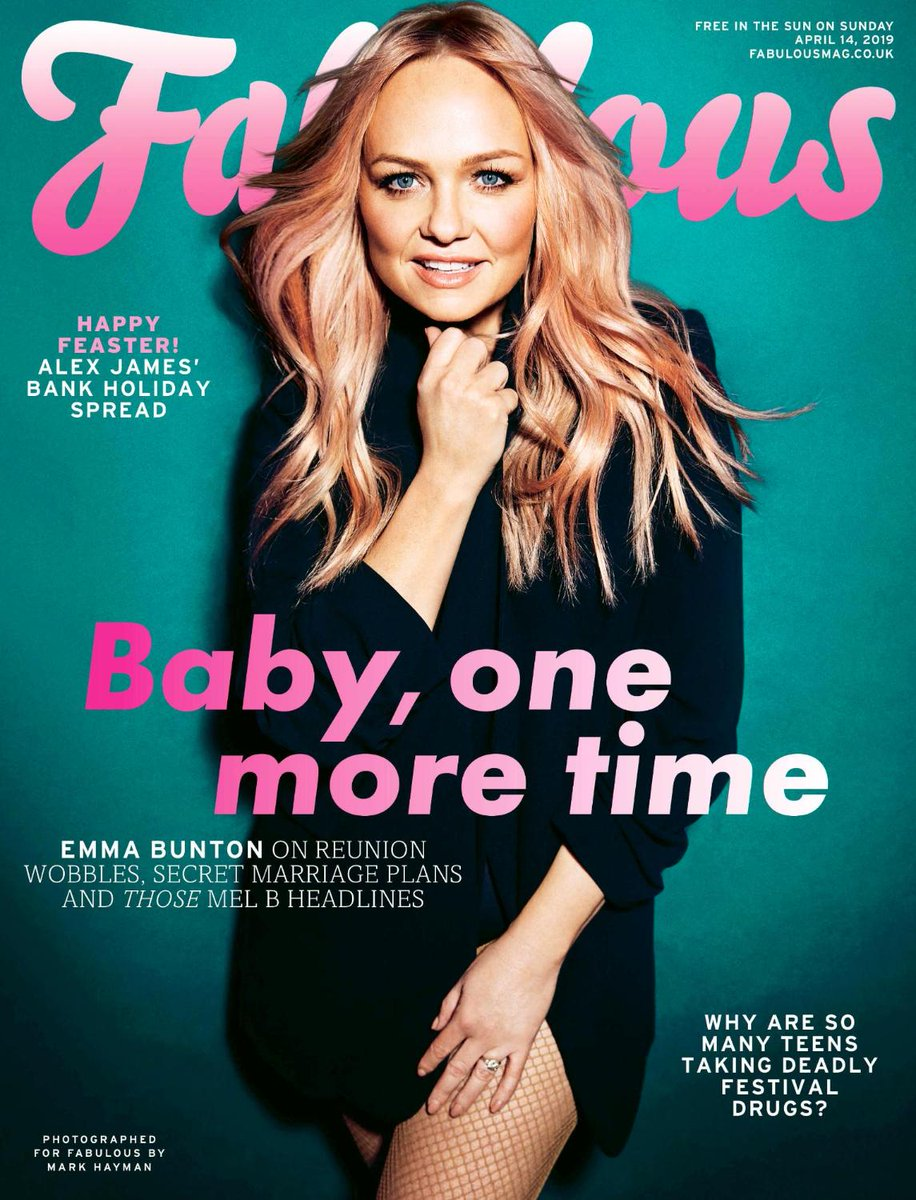 UK Fabulous Magazine April 2019: Emma Bunton (Spice Girls) Cover And Interview