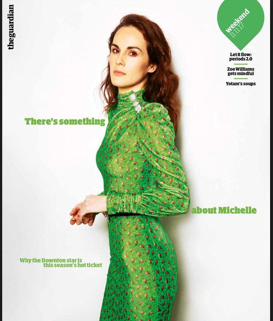UK Guardian Weekend Magazine November 11 2017 Michelle Dockery Downton Abbey Cover Interview