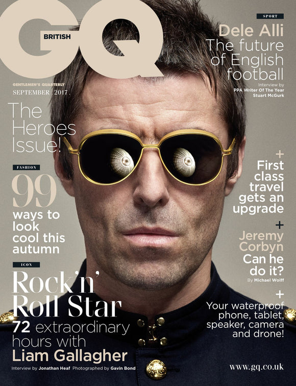 UK GQ Magazine September 2017 Liam Gallagher Exclusive Cover Interview