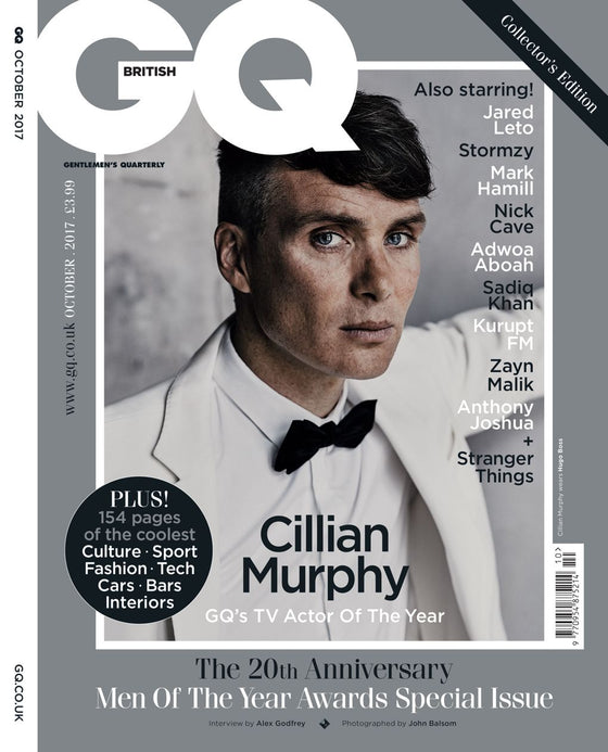 UK GQ Magazine October 2017 Cillian Murphy UK Cover Edition 1 of 9 Covers