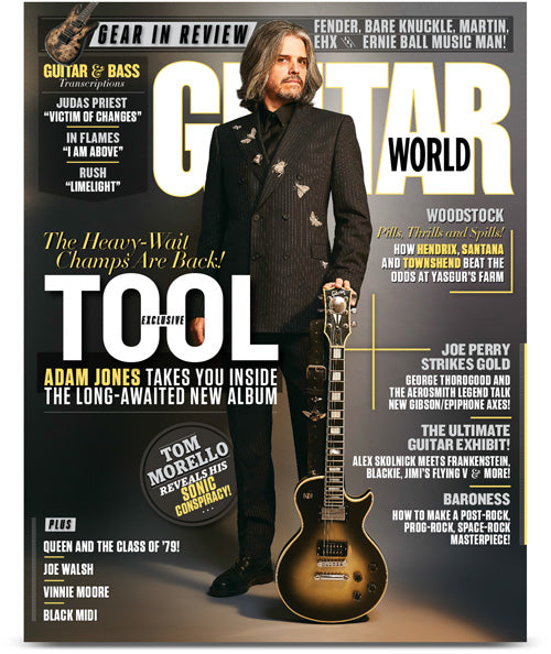 Guitar World Magazine October 2019 Adam Jones (Tool) Exclusive Interview