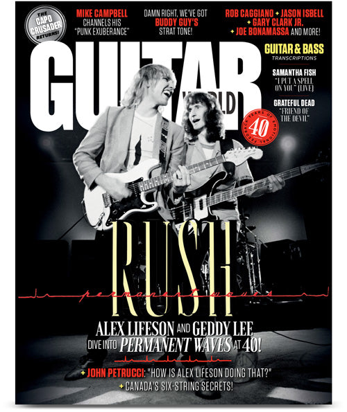 Guitar World October 2020 Rush (Alex Lifeson & Geddy Lee) Pre-Order