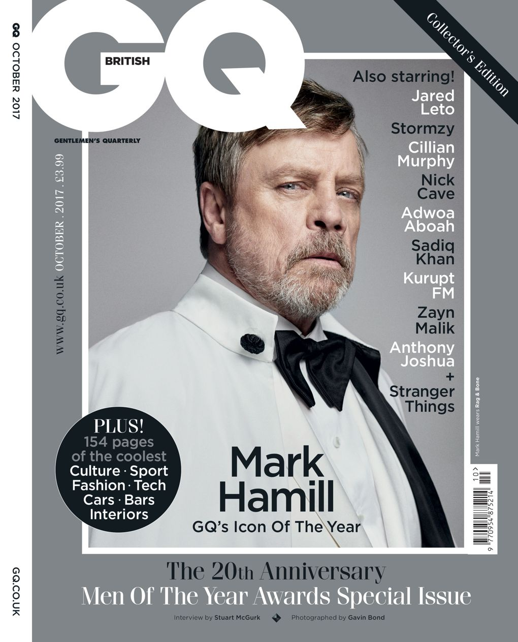 Mark Hamill on the cover of GQ Magazine