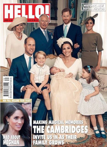 HELLO! magazine 23 July 2018 Royal Baby Prince Louis Christening Official Photographs - Cher