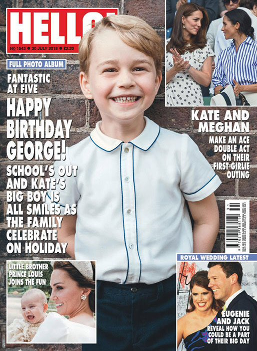 HELLO! magazine 30 July 2018 Prince George 5th Birthday + Cher Exclusive Interview