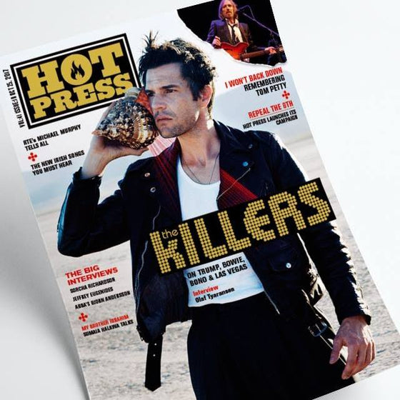 Hot Press Magazine October 2017 Brandon Flowers The Killers Tom Petty