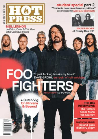 HOT PRESS Magazine #4116 Dave Grohl The Foo Fighters Cover Story