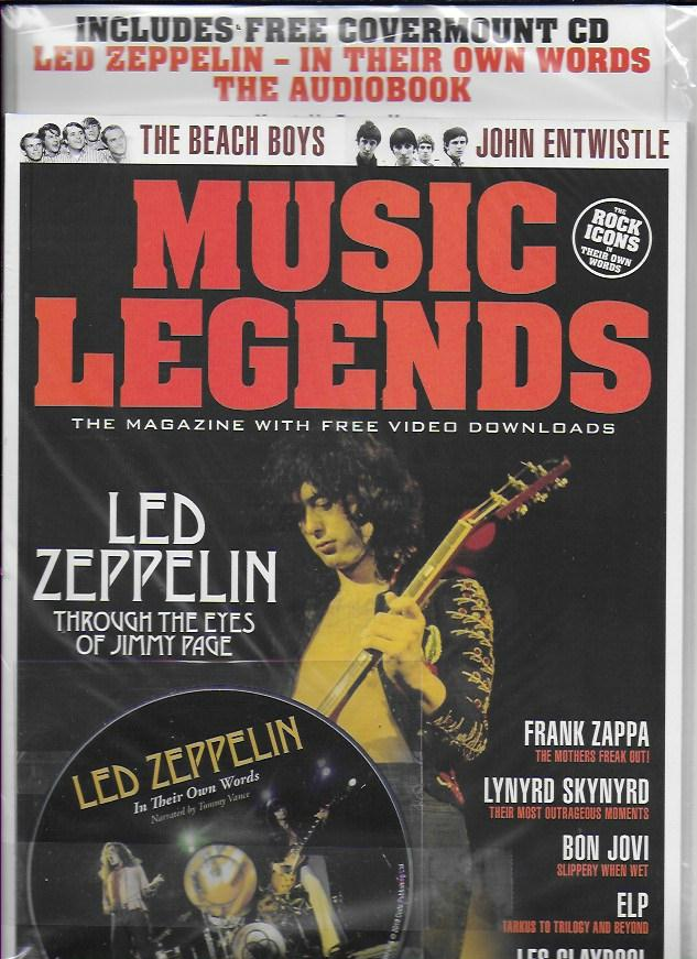 MUSIC LEGENDS Magazine Issue 5: LED ZEPPELIN Jimmy Page + FREE CD - Bon Jovi