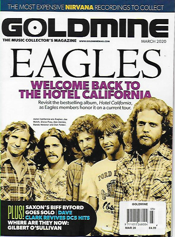 GOLDMINE Magazine March 2020: THE EAGLES COVER FEATURE