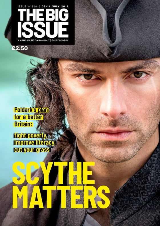 Big Issue Magazine 08 July 2019: Aidan Turner (Poldark) Cover Interview