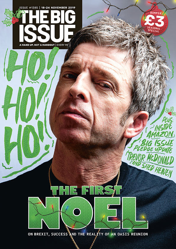 Big Issue Magazine November 18th 2019: Noel Gallagher (Oasis) Karen Gillian