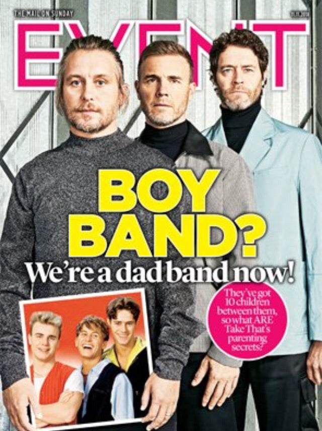U.K. Event Magazine November 2018 Take That Cover interview