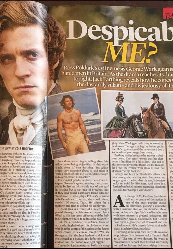 UK Event Magazine July 2018: Jack Farthing on Poldark Aidan Turner & More