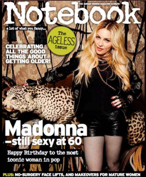 Uk Notebook Magazine August 2018: Madonna at 60 Cover story