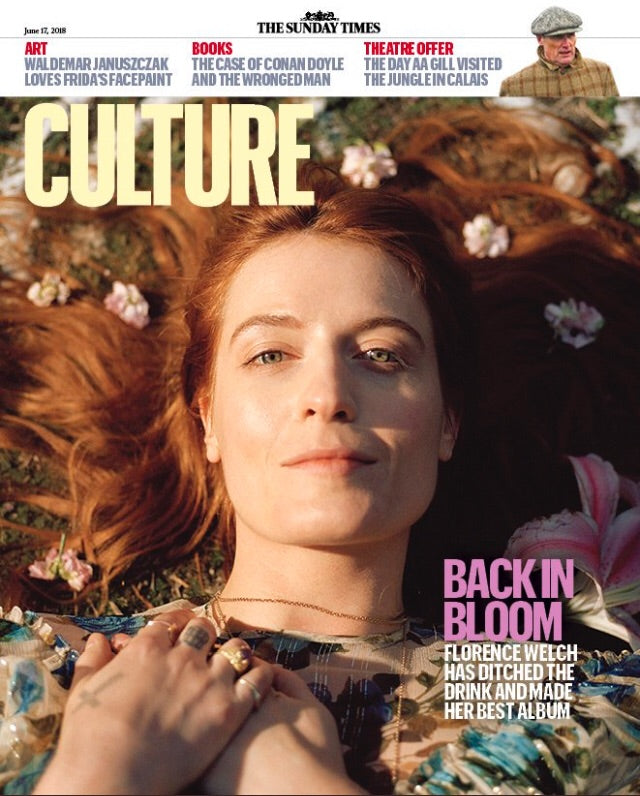 UK Culture Magazine June 2018 Florence Welch and the Machine Cover Story Aidan Turner