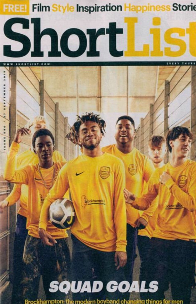 UK Shortlist Magazine September 2018: BROCKHAMPTON Cover interview