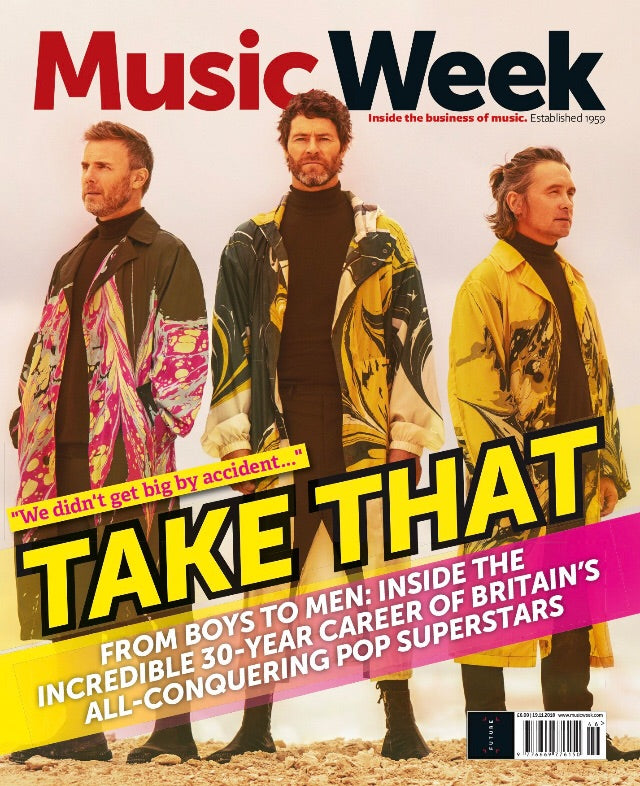U K  Music Week Magazine November 2018: Take That Cover Exclusive